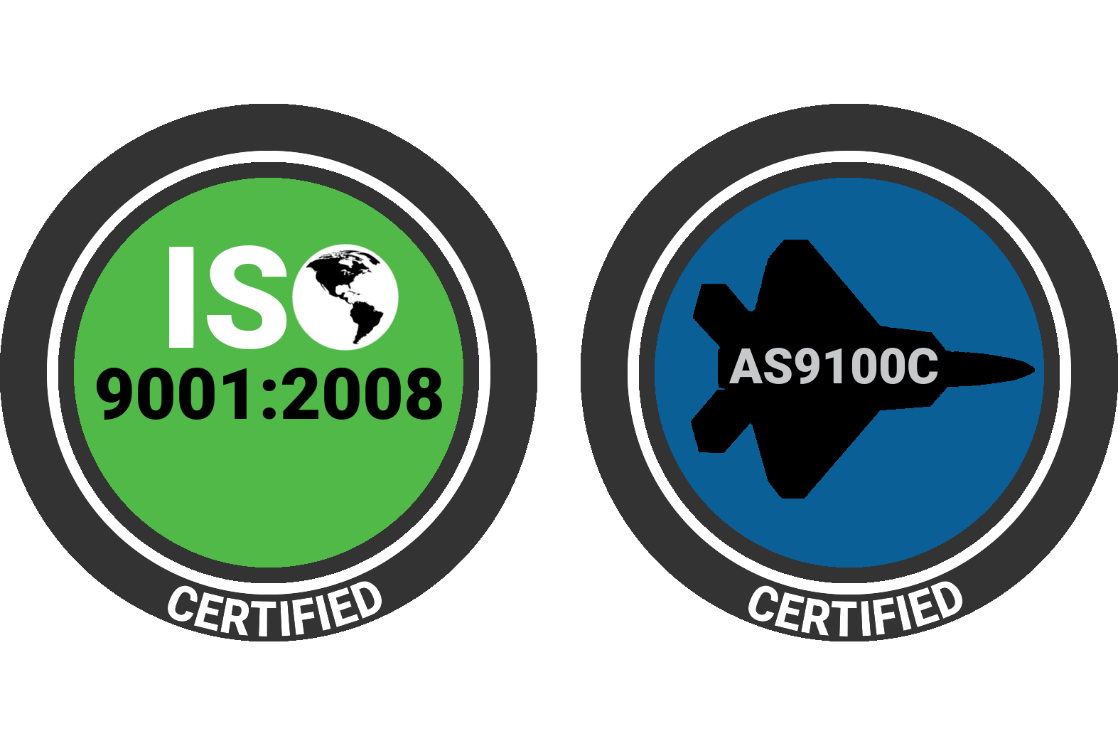 ISO9001:2008 & AS9100C Certified