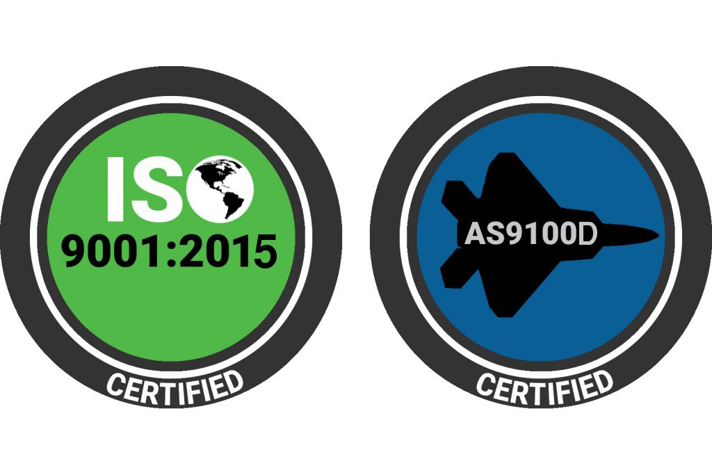 Certified to ISO 9001:2015 and AS9100D